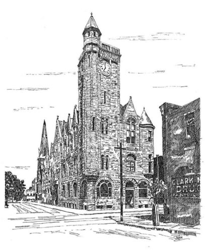 An example of Mike Penn's work, of the city building. (Photo Provided)