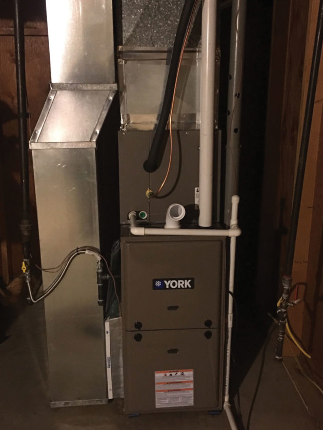 Photo Provided This is the new York 95 percent efficient furnace replacing the old furnace at the home of Mary Daniel on Dutch Ridge. She won Grogg's old furnace contest.