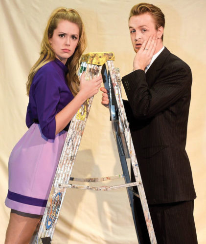 """Photo by Jeff Baughan The first Actors Guild of Parkersburg performance of 2017 will be the Neal Simon classic """"Barefoot In the Park"""" featuring Jamie Meckley and Chad Ridgeway as Corie and Paul Bratter."""