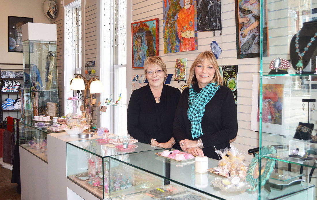 Photo by Doug Loyer Photos by Doug Loyer Twisted Sisters Boutique owners Becky Pritchett and Debbie Cline participated in the weekend's Small Business Revolution program in Marietta.