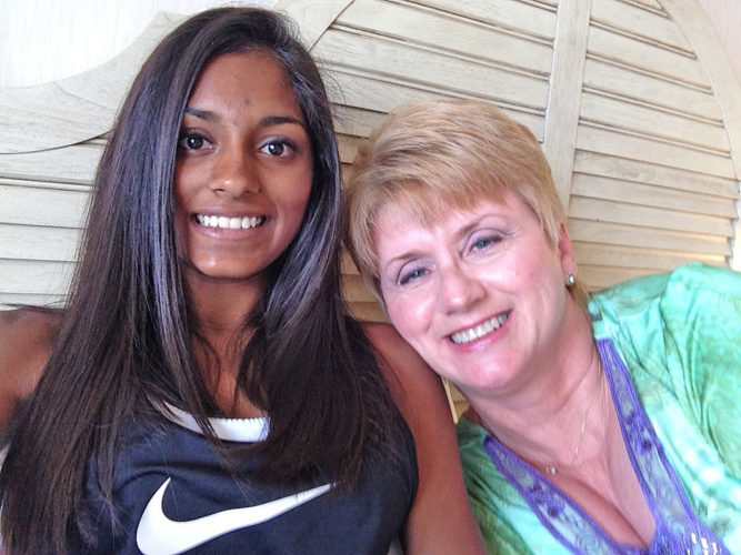 Photo Provided Jahnvi Duncan and her mother Linda prove that Tyler County can reach across the world to make a difference. More than 15 years ago, Duncan adopted her daughter and raised the child in Tyler/Wetzel counties.