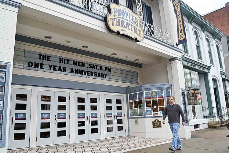 Photo by Sam Shawver More than 30,000 people have attended concerts, live shows, plays and motion picture events at the Peoples Bank Theatre since the renovated movie house opened its doors in January 2016.