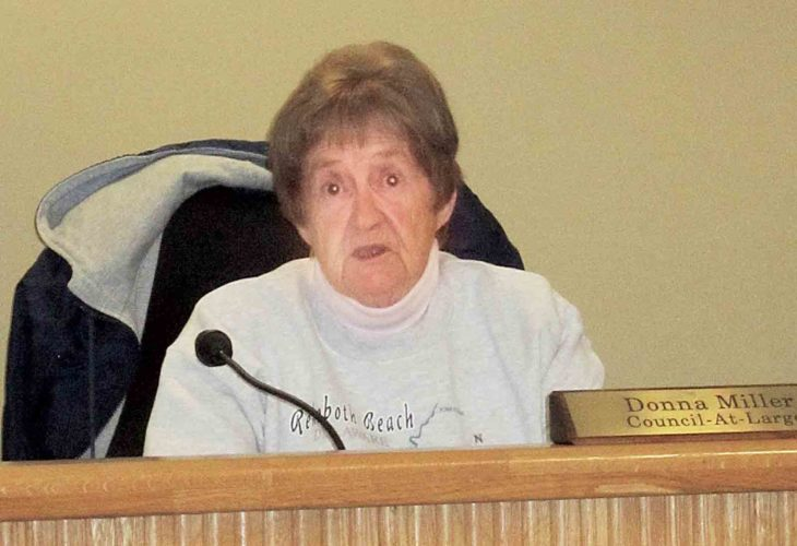 Belpre City Council member Donna Miller, chair of council's Police and Fire Committee, discusses proposals for emergency squad service in Belpre at Monday's committee meeting at the Belpre City Building. (Photo by Wayne Towner)