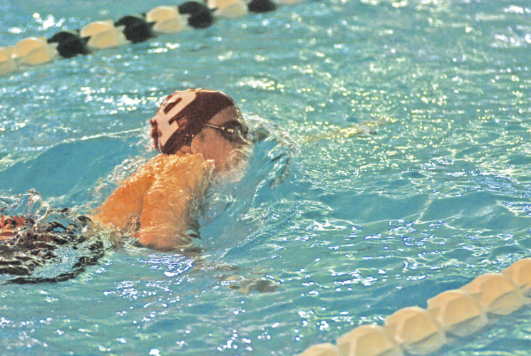 Parkersburg's Brady Colvin will join the Big Reds at the regional swim meet today at Brooke High School. Photo by Jay W. Bennett.