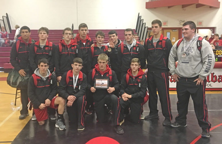 The Parkersburg High School wrestling team won Saturday's Mountain State Athletic Conference tournament held in St. Albans. It was the first MSAC for PHS since 2014. Photo submitted.