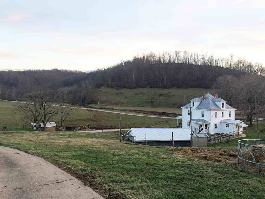 Photo by Miles Layton Sun sets on the Roberts' family farm, a part of Tyler County for more than 100 years.
