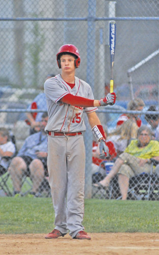 Parkersburg's Kyle Goodwin prepares to bat during a high school baseball game last season in Parkersburg.