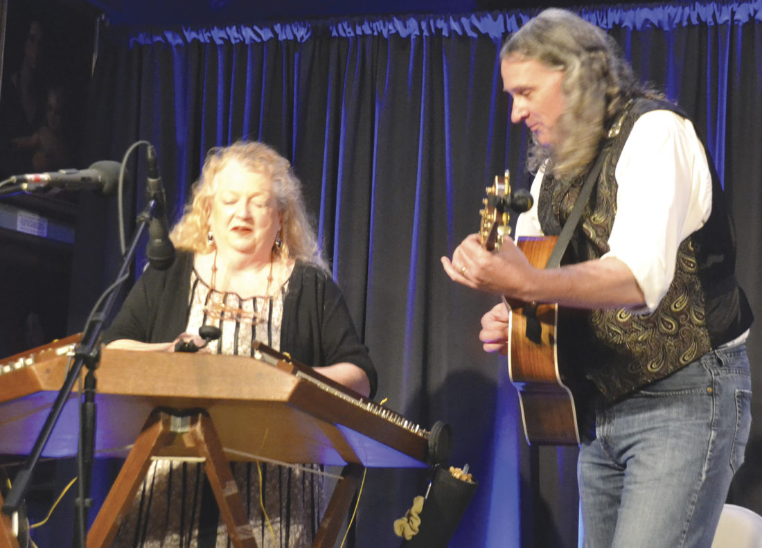 "Photo by Brett Dunlap Kendra Ward and Bob Bence presented ""Appalachian Trail of Music"" as the third presentation Sunday in the 2017 Blennerhassett Winter Lecture Series at the Blennerhassett Museum of Regional History in downtown Parkersburg."