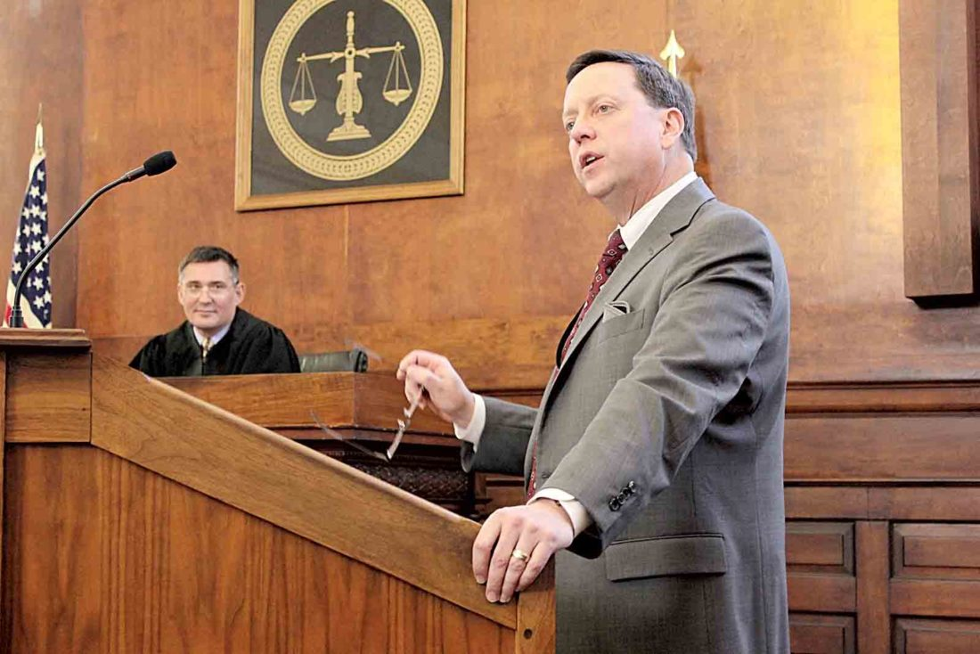 the castle series performs mock trial for residents students washington county common pleas judge mark kerenyi left and washington county prosecutor kevin rings