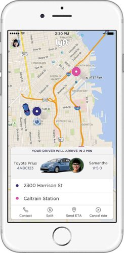 Photo Provided Smart phone users can now utilize the ride-sharing app Lyft in the Parkersburg area.