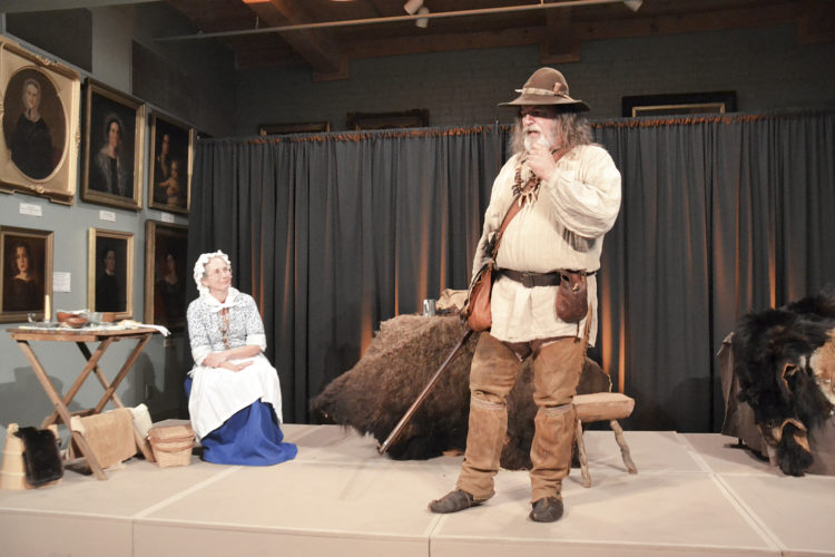 "Photo by Brett Dunlap Joe and Cheryl Lycan presented ""Frontier Living with Daniel and Rebecca Boone"" as the final entry in the 2017 Blennerhassett Winter Lecture Series on Sunday at the Blennerhassett Museum. The couple talked about the life and times of the Boones and the challenges they faced on the frontier."