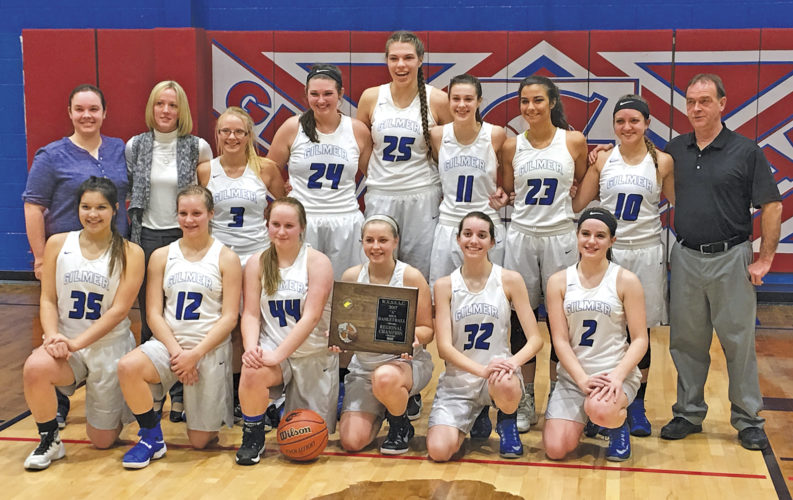 The Gilmer County girls basketball team defeated Union, 70-31, in a Class A regional co-final Thursday night in Glenville. The Titans clinched a berth in next week's state tournament in Charleston. Photo by Joseph P. Albright.
