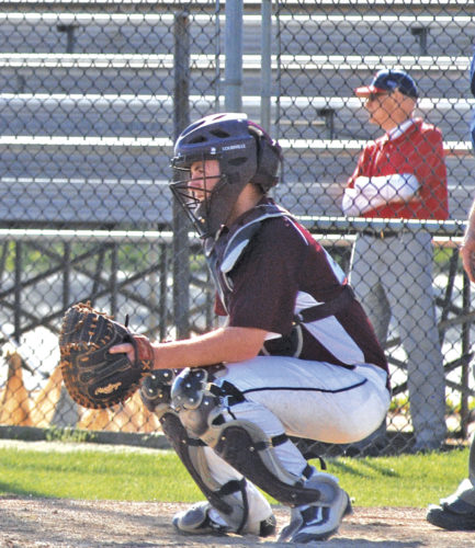 Roane County senior catcher Hunter Thompson, pictured here during a game last spring at Parkersburg's Bennett Stump Field, will continue his career on the diamond at WVU Tech. Photo by Jay W. Bennett.