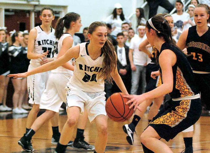 Photo by Jay W. Bennett Ritchie County's Stephanie Kirk (20) defends during a high school girls Class A regional co-final last week.