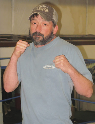 Parkersburg's Donnie Miller, pictured here at the Dawghouse Gym, will square off against fellow 154-pounder Eric Palmer of Pennsylvania on Saturday evening in a scheduled six-rounder for the Appalachian Boxing Association's Northwest title during Fieldhouse Fight Night 6 at Parkersburg High School. Photo by Jay W. Bennett.