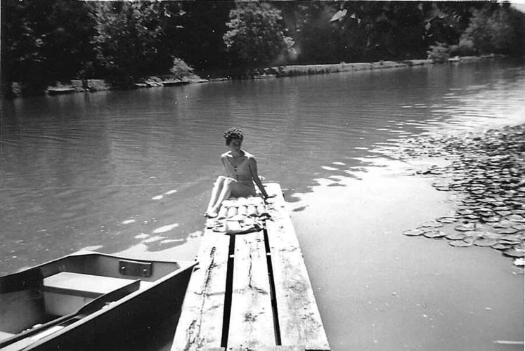 Photo provided by David Kanalz An unidentified woman suns on a pier at Lake Washington, circa 1961. Although the 27 acre lake was built for recreational purposes, a news item of the 1990s stated that about 30 percent of the property owners lived there on a permanent basis.