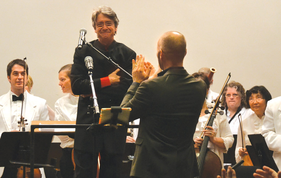 Photo by Brett Dunlap Maestro Grant Cooper was touched by the reception he got Sunday from an almost sold out crowd at Blennerhassett School during his final concert as the conductor and Artistic Director of the West Virginia Symphony, a position he has held since 2001.