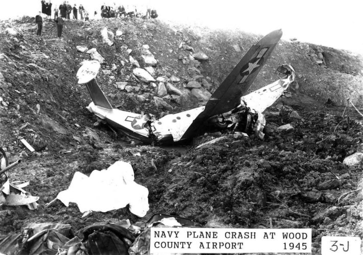 Photo provided by Artcraft Studio In March of 1945 an Army training aircraft crashed near the Wood County Airport, resulting in the death of seven Army and Navy servicemen.