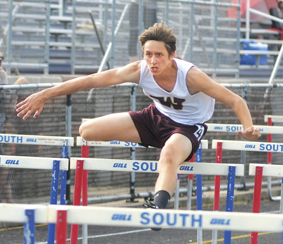 Williamstown's Tim Wickham will compete in his final Ryan Jobes Spring Special today at the Jack Jones Track and Field Facility. Last spring, the junior took second in the 110 high hurdles and third in the 300 hurdles in this meet. Photo by Jay W. Bennett.