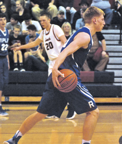 Ripley senior point guard Jamison Hunt, who averaged 23.3 points, 7.2 assists, 5.5 rebounds and 2.9 steals, was honored by the West Virginia Sports Writers Association as a Class AAA all-state first teamer. Photo by Jay W. Bennett.