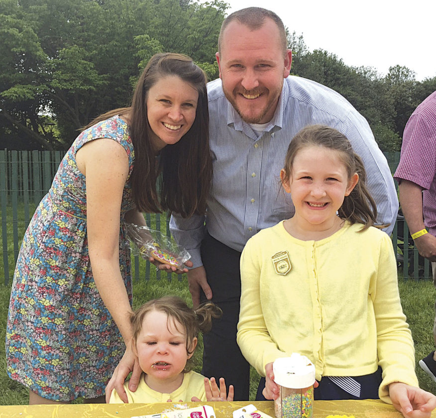 Photo Provided Rachel, Andrew, Madeline and McKenzie Lore of Parkersburg traveled to Washington, D.C., over the weekend to participate in the White House's Easter Egg Roll on Monday.