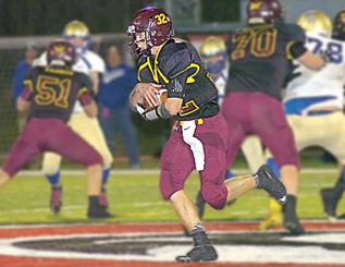 Photo illustration by Steve Muscatello Wabasso's Mitchell Fulton was named the All-Journal Offensive Player of the Year.
