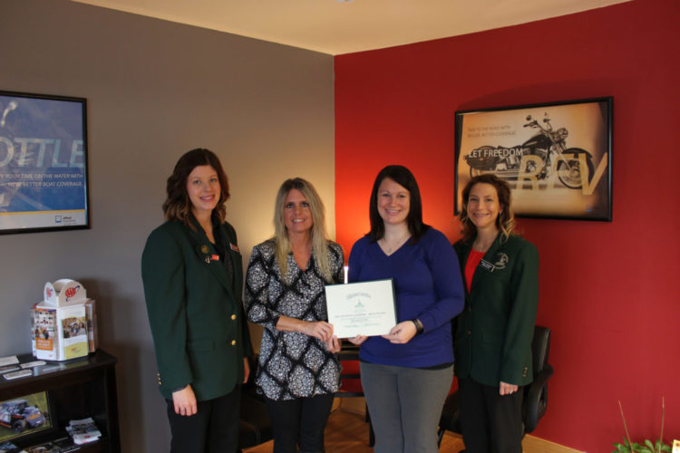 Submitted photo  Brittney Schmiesing, Chuck Spaeth Ford; Beth Nelson and Abby Schwab, Beth Nelson Insurance Agency; Nicole Briggs, Jensen Motors