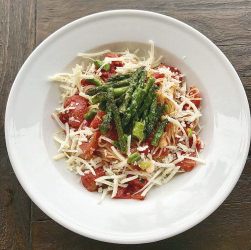 Submitted photo Angel hair pasta with Asparagus