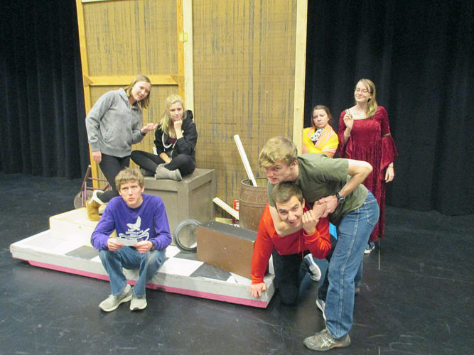 "The play is ""Fourteen Lines"" by Alan Haehnel and it raises the question of why 14 lines of Shakespeare could possibly matter to high school students. This touching one-act play will be presented Friday, Jan. 27 at 7 p.m. at the New Ulm Public High School Theater. Tickets are $7 for adults, $5 for students and senior citizens. This is New Ulm Public's entry in the State One-Act Competition which will be held Saturday Jan. 28 here in New Ulm. The cast includes Abigail Allen, Anna Uehling, Daniel Lindquist, Lars Kopietz, Nick Schultz, Sicily Trullinger, and Hannah Larson. This one-act play is produced by special arrangement with Samuel French, Inc."