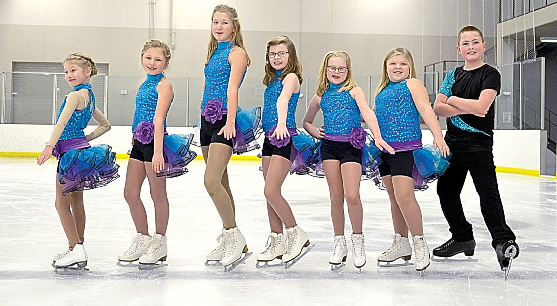 "The Intro to Power class will be skating to Shakira's ""Try Everything."" Pictured from left to right: Elizabeth Borgen, Kylie Berdan, Tatiana Rolloff, Zoe Evers, Emma Hoffman, Calleigh Frederickson and Logan Portner."