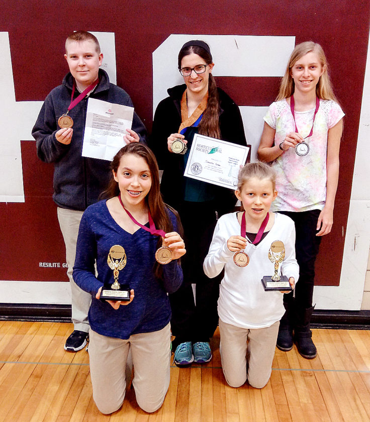 Submitted photo CHS students that received awards as displayed above — Back row: Jacob DeVries, Samantha Guldan, Grace Gleisner; front row: Emily Schommer and Clare Fischer
