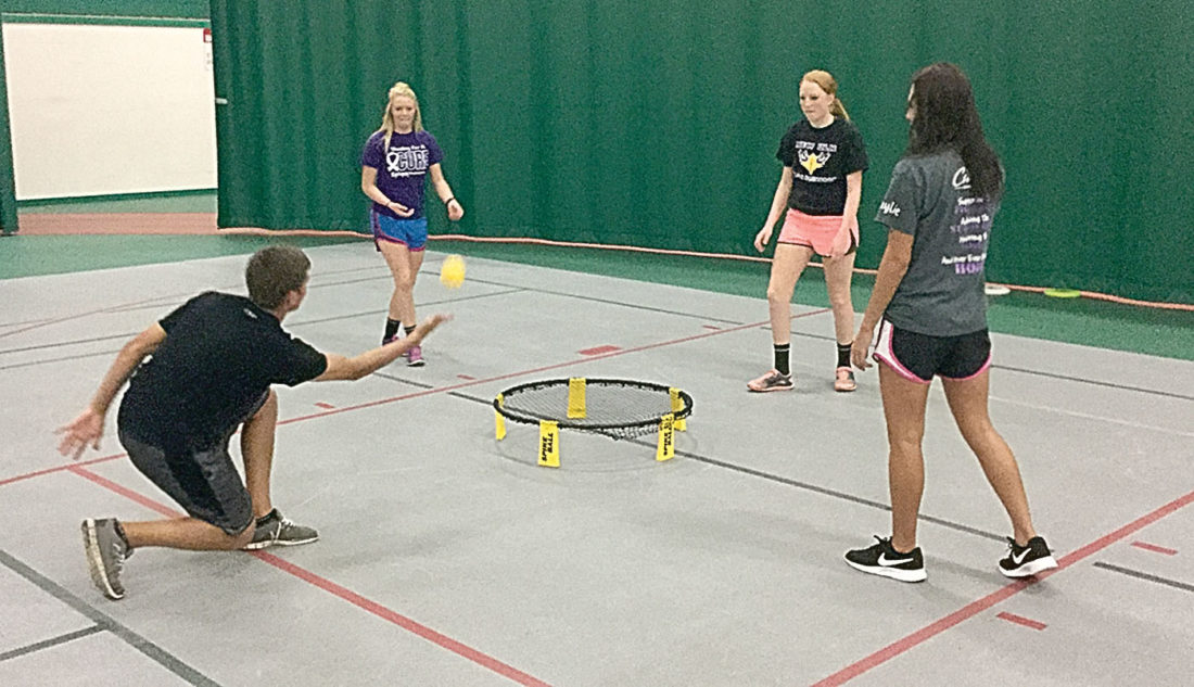 Photos courtesy of New Ulm Park and Recreation Spikeball is an up an  coming popular game.