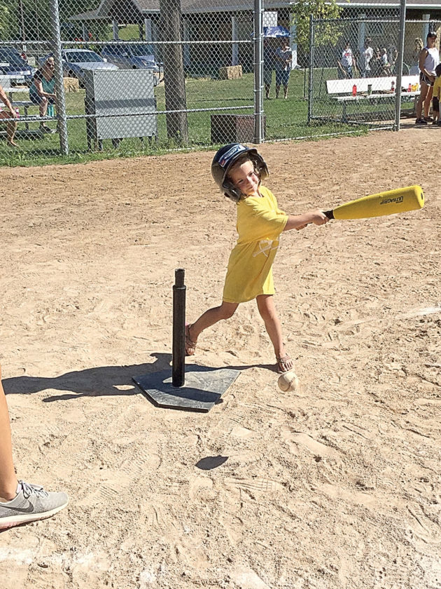 Photos courtesy of New Ulm Park and Recreation. T-Ball leagues are for children ages five and six.