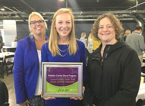 Submitted Photo From left to right are Traci Hopkins (Healthy Community Alliance), Kaitlyn Summers (Healthy Community Alliance) and Kate Huber (Erie 1 BOCES).