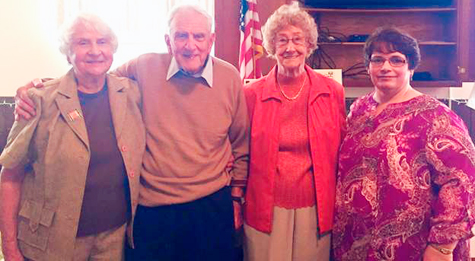 "Submitted Photo The Chautauqua County Retired and Senior Volunteer Program recently honored volunteers at a ""Tribute Luncheon."" From left: Joan Houck and Rev. Rodney Houck, Chautauqua County Retired and Senior Volunteer Program Advisory Council members, Stella Michalak, 30-year honoree and Brenda Weiler, RSVP Project Coordinator."
