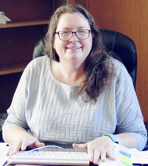 Submitted Photo Rev. Catherine Rieley-Goddard is temporary minister for the First Presbyterian Church in Westfield and is excited about working with the congregation.