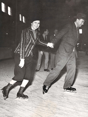 Submitted Photo The late Robert H. Jackson is pictured ice skating.