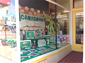 Submitted Photo The Canadaway 4-H Club partnered with Fredonia Hardware to create a window display to celebrate National 4-H Week recently.