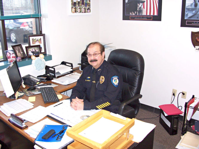 OBSERVER Photo by Bradley Dankert Town of Evans Police Chief Ernest P. Masullo will retire on Friday.