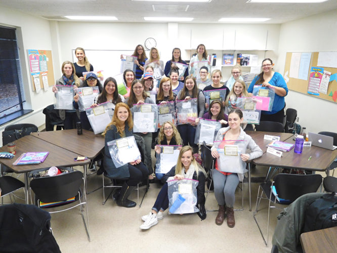 Submitted Photo Fredonia students show off their learning centers.