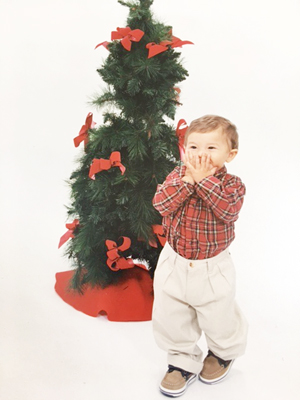 This is Louis Chianella, age 2, when seeing Santa for his annual visit!