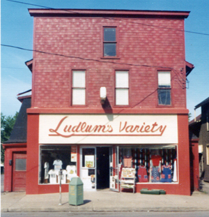Submitted Photo The former Ludlum's Variety store on the 500 block of Main Street in Dunkirk was a must-stop for shoppers looking for that something special or different. It closed during the urban renewal phase of the city's development.