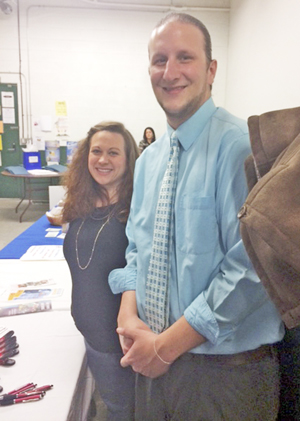 Submitted Photos The Resource Center was on hand at the recent Medical Pathways Career Fair held in Jamestown with Human Resources Manager Matthew Phillips and Resident Manager Casey DuBose.