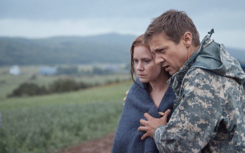 "Submitted Photo ""Arrival"" stars Amy Adams and Jeremy Renner as well as Forrest Whitaker (not pictured)."