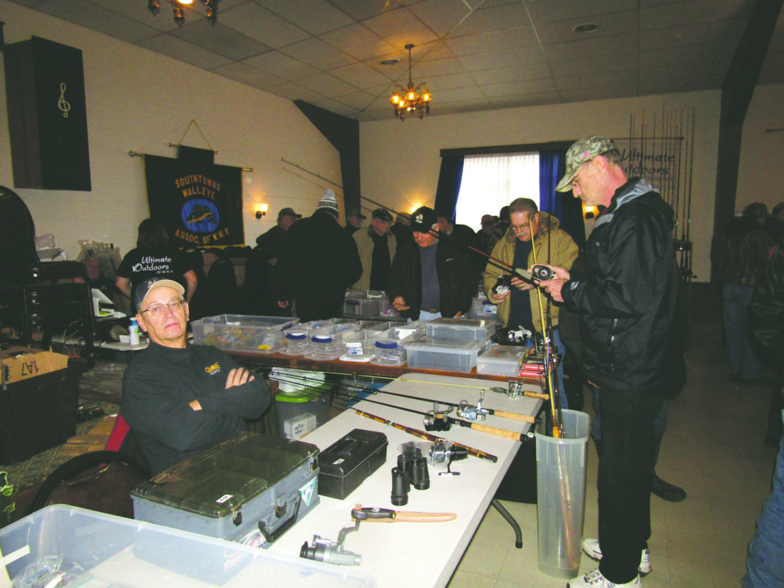 OBSERVER Photo by Gene Pauszek Fishermen found plenty of bargains at the Southtowns Walleye flea market on Saturday.