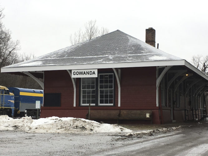 OBSERVER Photo by Andrew Kuczkowski The New York & Lake Erie Railroad station in Gowanda was an epicenter for Christmas in Gowanda once again. The rides ignited a hype around trains, which helped shed the station's stigma of being old and outdated.