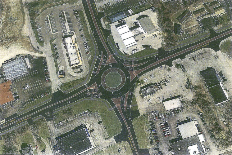 A rendering of the proposed roundabout at Routes 20 and 60.