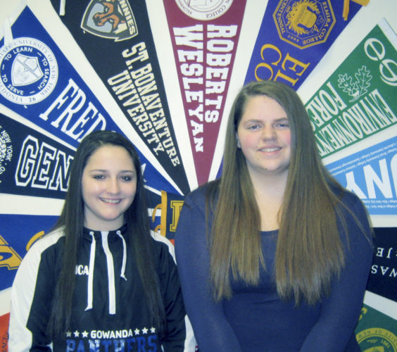 Submitted Photo The Gowanda American Legion Auxiliary Unit 409 selection for this year's American Auxiliary Empire Girls State program is Katie Igielinski of Perrysburg (on right). She has been selected to attend the week-long educational experience. This year's alternate is Jessica Whalen, also of Perrysburg (left).