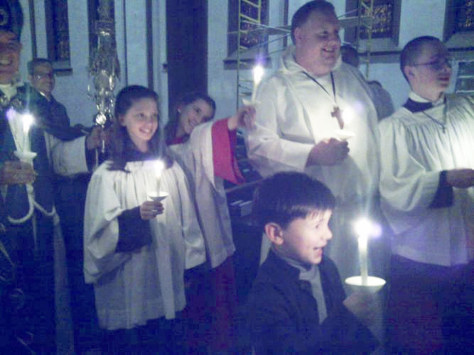 Submitted Photo Pictured are some of the participants, which included Westfield residents,in the recent Feast of Lights celebration at St. Paul's Cathedral in Buffalo that was sponsored by the Episcopal Diocese of Buffalo.