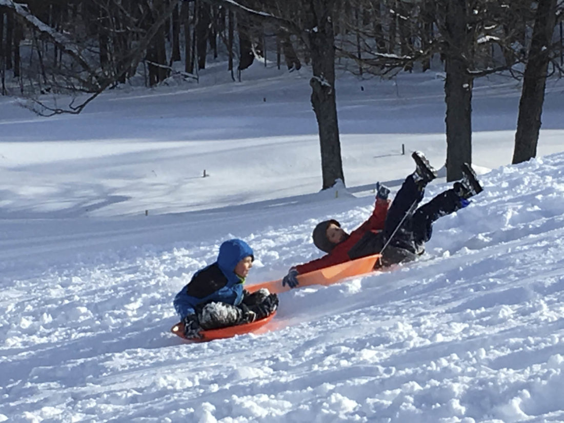winter fun in cassadaga news sports jobs observer today observer photos by gregory bacon